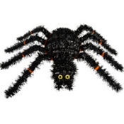 Spider Tinsel Wreath 15 1/2in