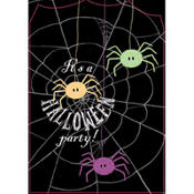 Spider Frenzy Halloween Invitations 8ct