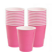Bright Pink Plastic Cups 12oz 20ct