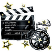 Foil Hollywood Movie Clapboard Balloon 29in