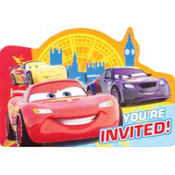 Bright Cars Invitations 8ct