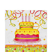 Birthday Cake Lunch Napkins 20ct