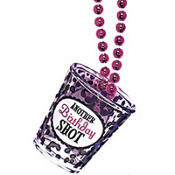 Birthday Princess Shot Glass Necklace