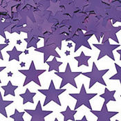 Metallic Purple Star Confetti 2 1/2oz