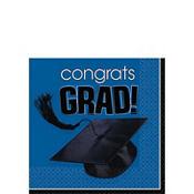 Congrats Grad Royal Blue Graduation Beverage Napkins 36ct