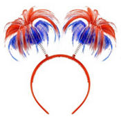 Patriotic Ponytail Head Bopper 8in
