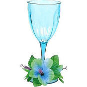 Floral Paradise Cool Plastic Wine Glass