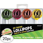 60 Sucks Birthday Lollipops 20ct