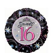Sweet Sixteen Prismatic Foil Balloon 18in