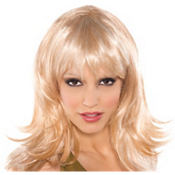 Feather Flirty Blonde Wig