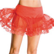 Adult Red Lace Petticoat