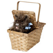 Deluxe Wizard of Oz Toto in a Basket