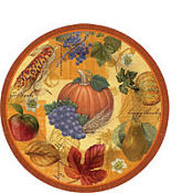 Thanksgiving Scrapbook Dessert Plates 8ct