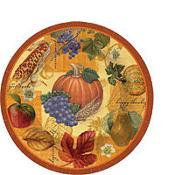 Thanksgiving Scrapbook Dessert Plates 8ct