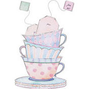 Tea Cup Jumbo Invitations 8ct