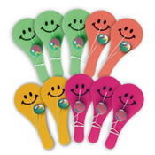 Smiley Paddle Balls 10ct