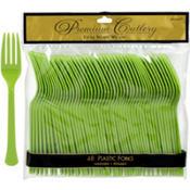 Kiwi Green Premium Plastic Forks 48ct