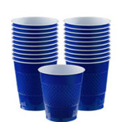 Royal Blue Plastic Cups 20ct