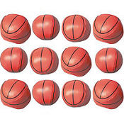 Basketball Soft Ball Favors Value Pack 12ct