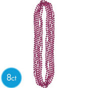 Burgundy Bead Necklaces 32in 8ct