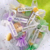Multicolor Baby Shower Favor Ties 6ct