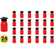 Grad Cap Red Bubbles 24ct<span class=messagesale><br><b>29¢ per piece!</b></br></span>