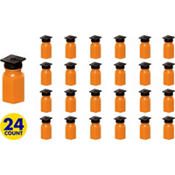 Grad Cap Orange Bubbles 24ct