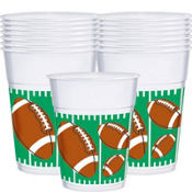 Football Plastic Cups 25ct