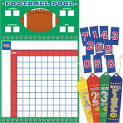 Football Pool Game with Award Ribbons