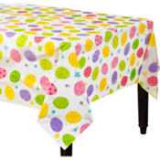 Eggstravaganza 54in x 96in Plastic Table Cover