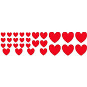 Red Heart Cutouts 30ct
