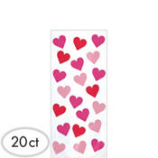 Key To Your Heart Treat Bags 9 1/2in 20ct