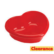 Heart Shaped Plastic Bowl 11in