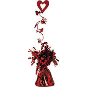 Valentines Day Foil Balloon Weight with Wire Garland 6oz