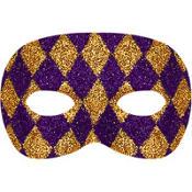 Glitter Harlequin Masquerade Mask