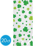 Large St. Patricks Day Clover Treat Bags 11 1/2in 20ct