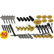 Gold and Silver Plastic Noise Makers 40ct