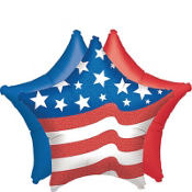 Red, White & Blue Star Patriotic Balloons 3ct