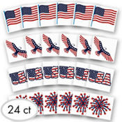 Patriotic Tattoos 24ct<span class=messagesale><br><b>10¢ per piece!</b></br></span>