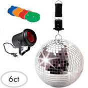 Party Lights Mirror Ball Kit