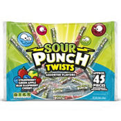 Sour Punch Twists Candy 50ct.