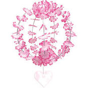 Pink Hanging Flower Sphere 10in