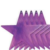 Purple Star Cutouts 12in 5ct