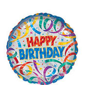Foil Party Streamers Happy Birthday Balloon 18in
