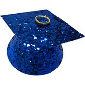 Royal Blue Glitter Graduation Balloon Weight 6oz