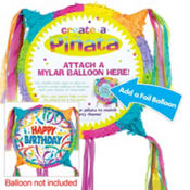 Pull String Customizable Foil Balloon Pinata 20in