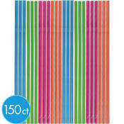 Summer Brights Flexible Straws 150ct