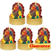 Molded Mini Turkey Candles 1 3/4in 5ct