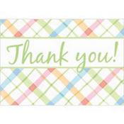 Plaid Baby Shower Thank You Notes 8ct