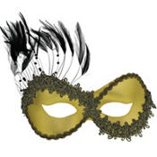 Gold Persuasion Masquerade Mask